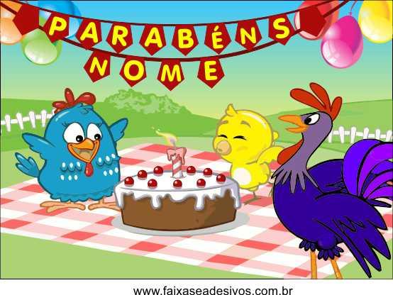 Painel de Aniversário 040 Galinha Pintadinha - 1,00x1,40m  - Fac Signs