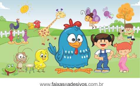 Painel de aniversário 042 Galinha Pintadinha - 1,00x1,80m  - Fac Signs
