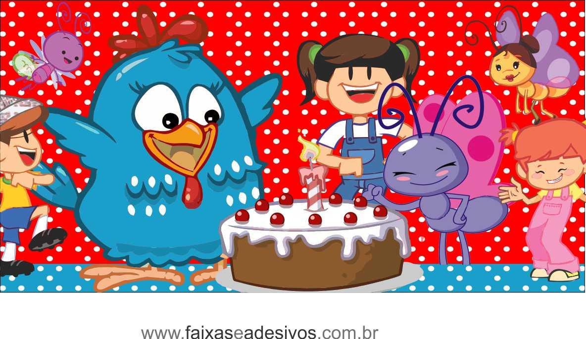 Painel de aniversário 048 Galinha Pintadinha - 2,00x1,50m  - Fac Signs