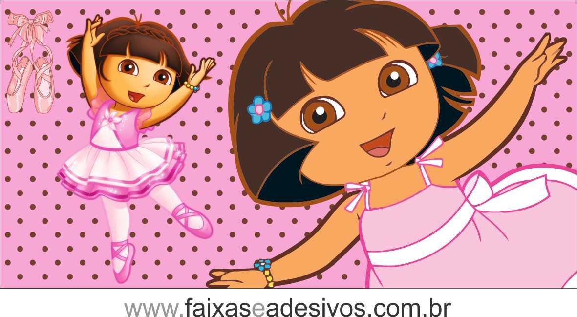 Painel de aniversário 062 Dora Aventureira 2,00x1,40m  - Fac Signs