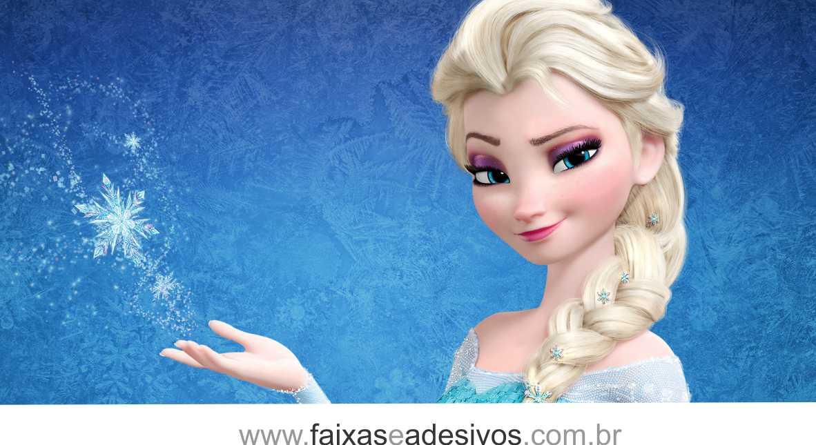 Painel de Aniversário 084 Frozen 2,00x1,40m  - Fac Signs