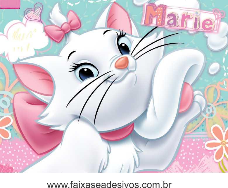 Mini Kit Personalizado Gatinha Marie Para Imprimir Kit