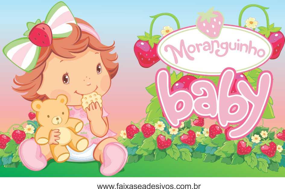 Painel de aniversário 165 Moranguinho Baby 1,00x1,60m  - Fac Signs