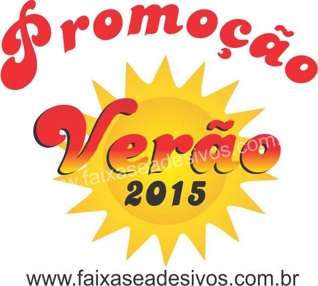 Adesivo Verão 2015 impresso  - FAC Signs Impressão Digital