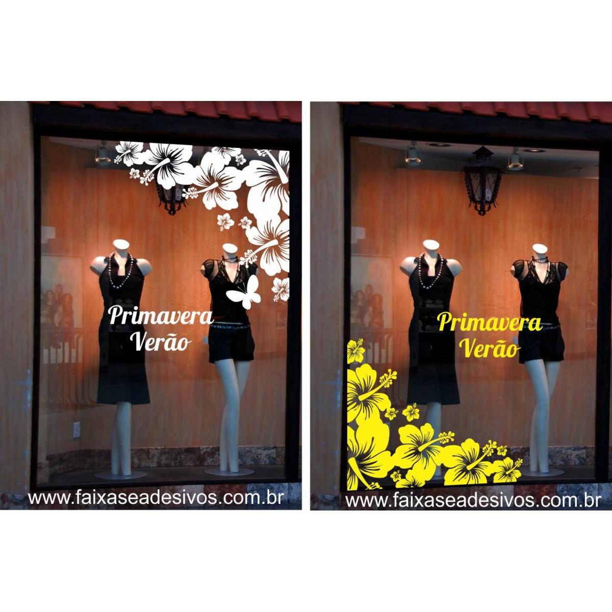 Adesivo Flores de verão 90 x 80cm  - FAC Signs Impressão Digital