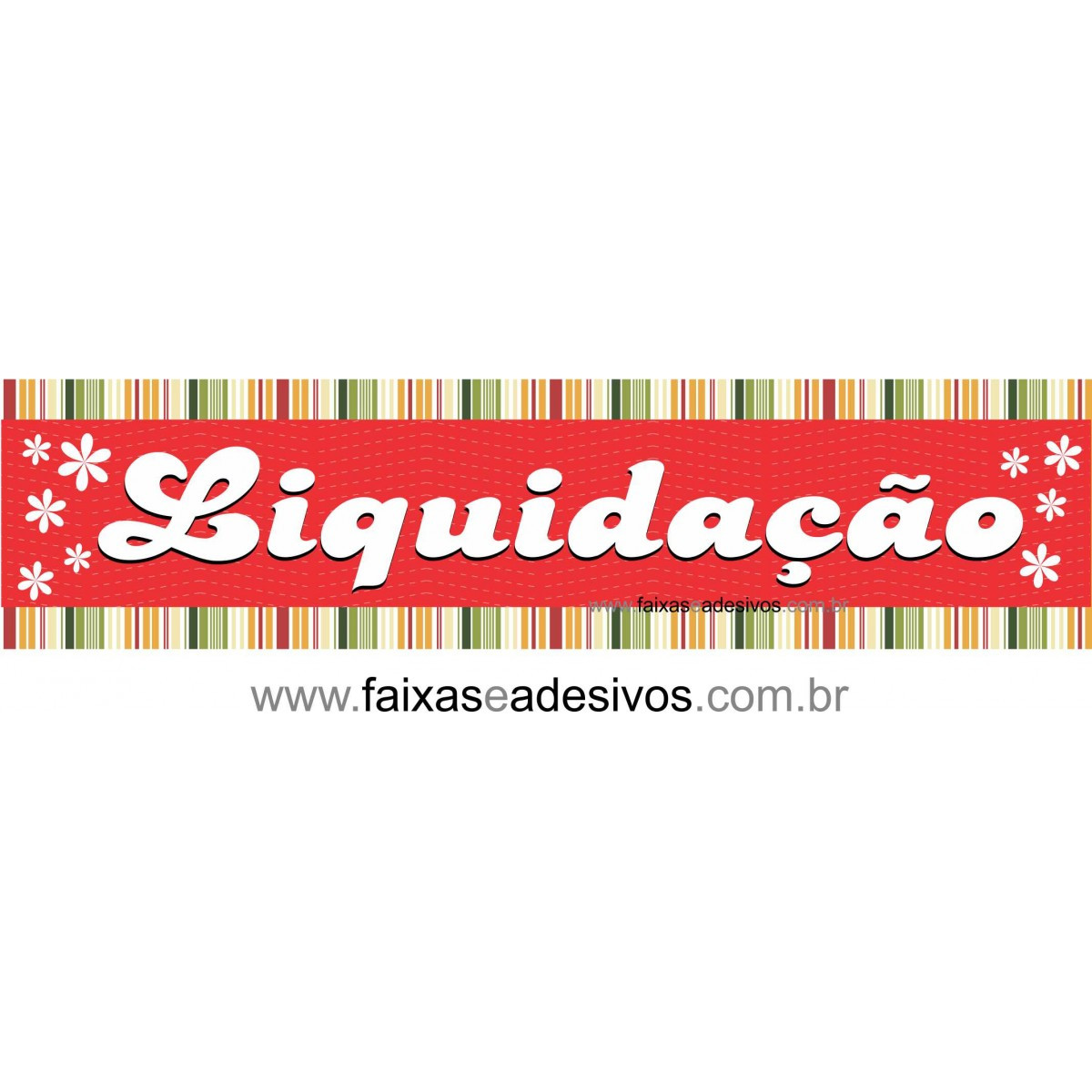 Adesivo Liquidação e listras flores - AD1LIQ07  - FAC Signs Impressão Digital