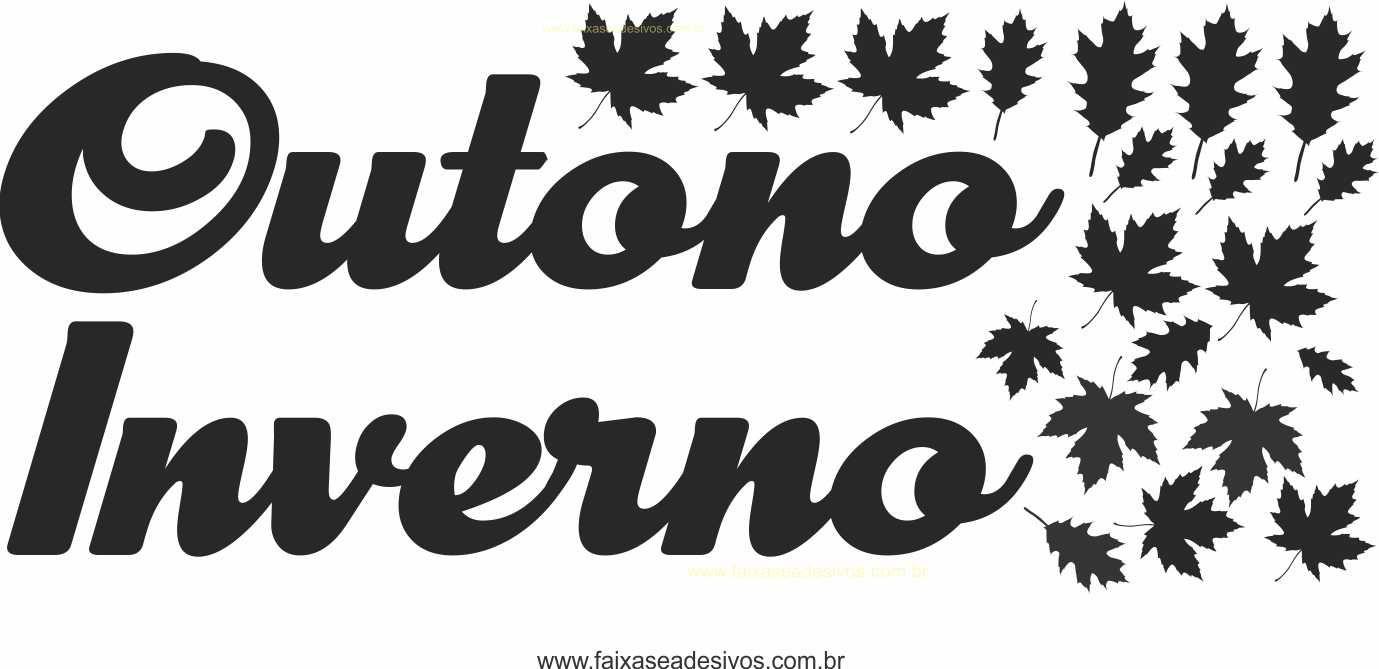 A482M - Adesivo Outono Inverno 1 cor  - Fac Signs