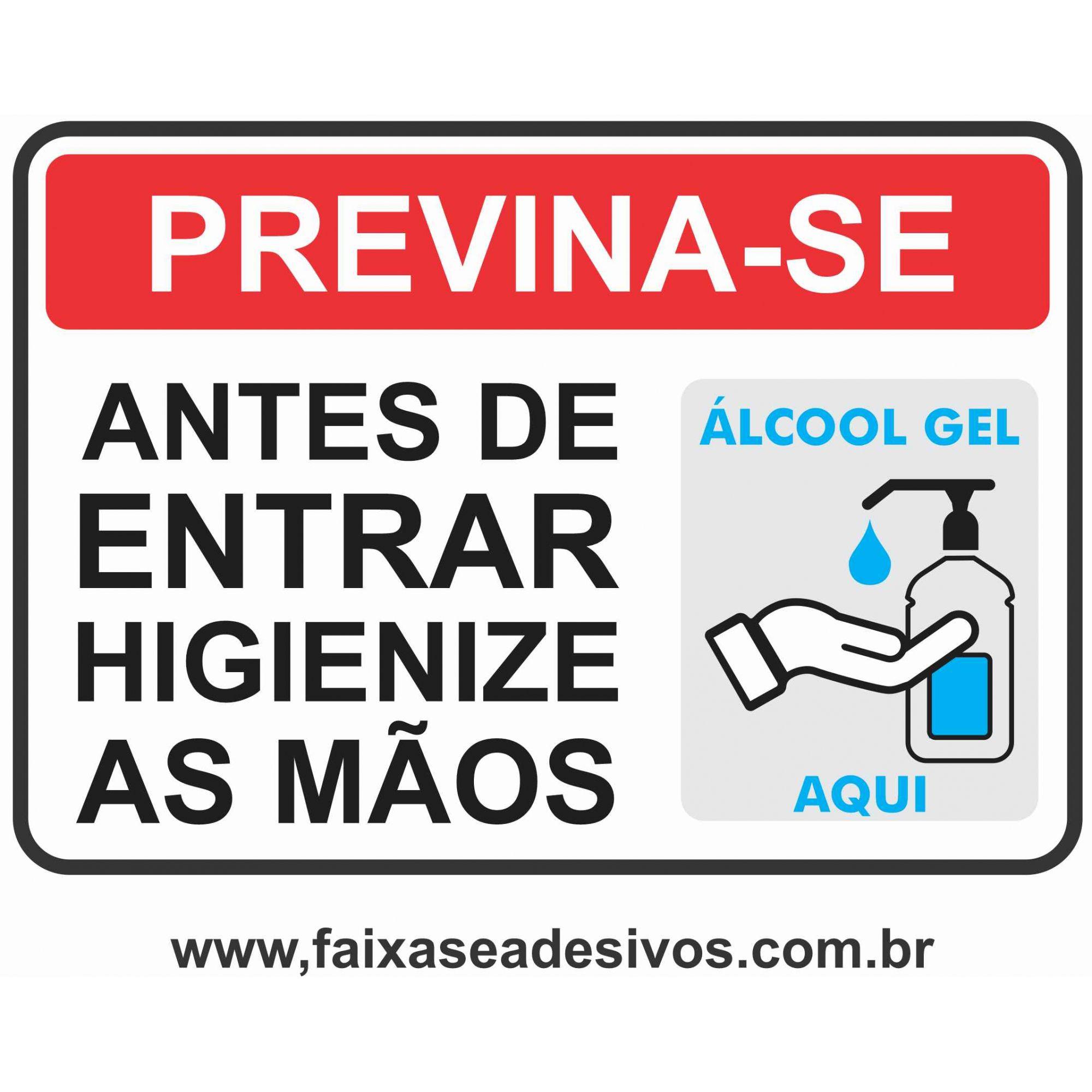 Adesivo Covid19 Alcool em Gel   - Fac Signs