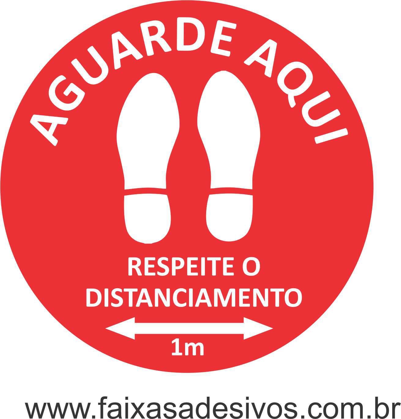 Adesivo de Piso Covid19 pegada  - Fac Signs