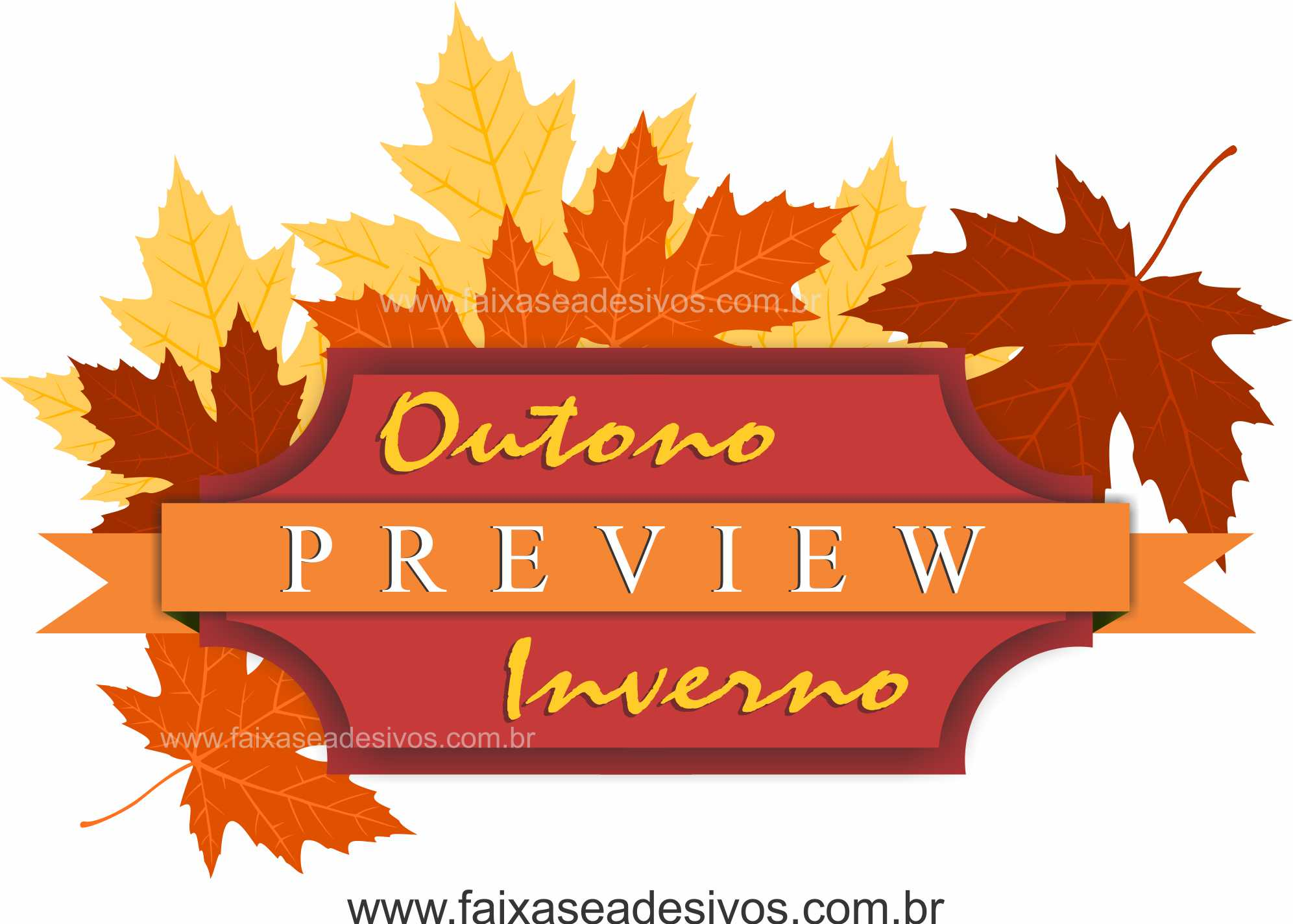 A586M - Adesivo Outono Inverno Preview  - Fac Signs