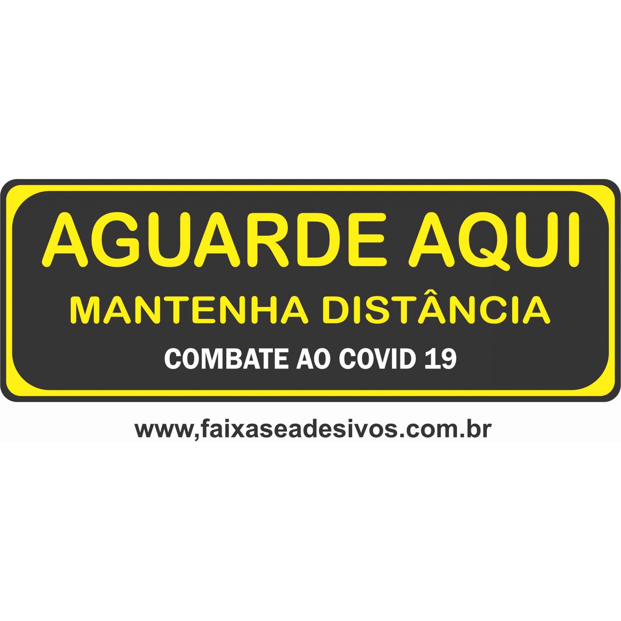 Adesivo para piso Covid19 - Retangular Distancamento  - FAC Signs Impressão Digital