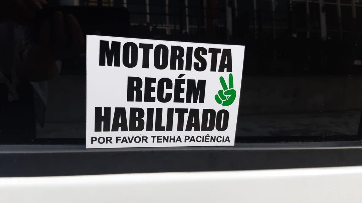 Adesivo Recém Habilitado - Legal  - Fac Signs