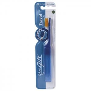 Escova dental OralGift Travel  com 5148 cerdas Ultra Macias - Praticidade sempre à mão.