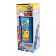 Porta Escova Kit Baby Flex Galinha Pintadinha 3x1