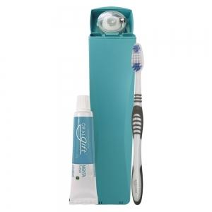 SmileBox SLIM OralGift pro trabalho - Kit Estojo com proteção contra vírus e bactérias. Contém 01 fio dental de 25m + 01 escova dental + 01 pasta dental 30g com flúor.