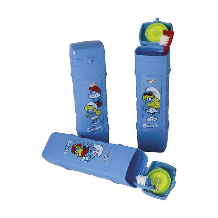 Kit Pop Floss Smurfs 3x1  - OralGift