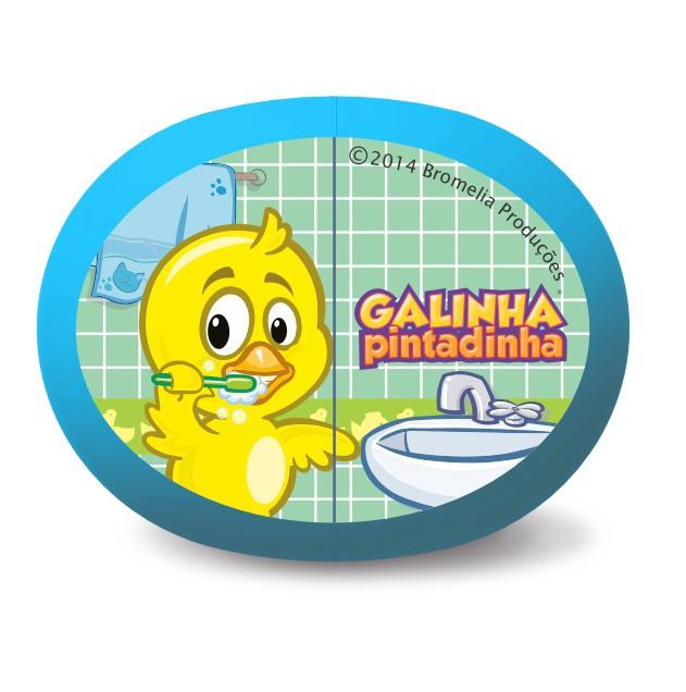 Suporte para escova infantil - GALINHA PINTADINHA  - OralGift