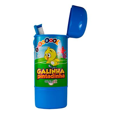 Porta Escova Kit Dental 3x1 Fun Galinha Pintadinha  - OralGift