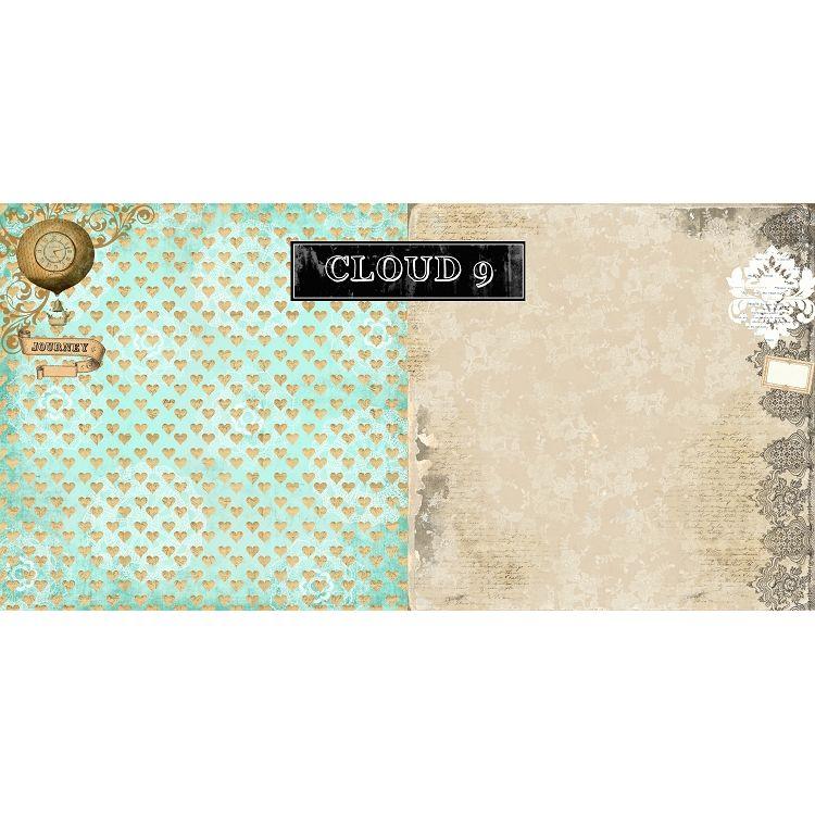 Papel - Nirvana / Cloud 9 - Marion Smith  - JuJu Scrapbook