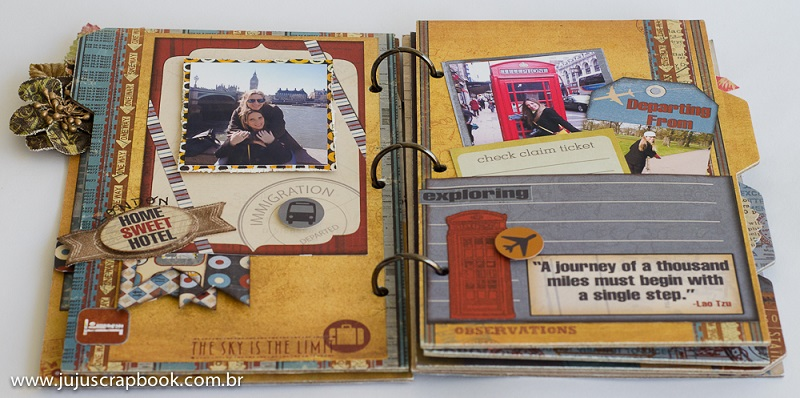 Álbum ´Let´s Take a Trip´  - JuJu Scrapbook