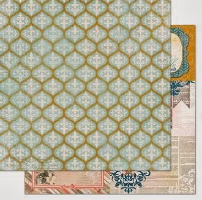 Papel - The Avenues Trellis - Bo Bunny  - JuJu Scrapbook