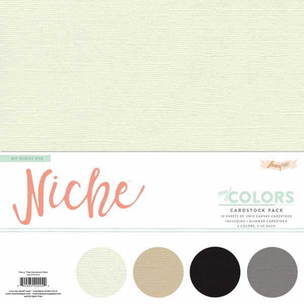 Cardstock Pack Niche / Fancy That  - My Mind´s Eye  - JuJu Scrapbook