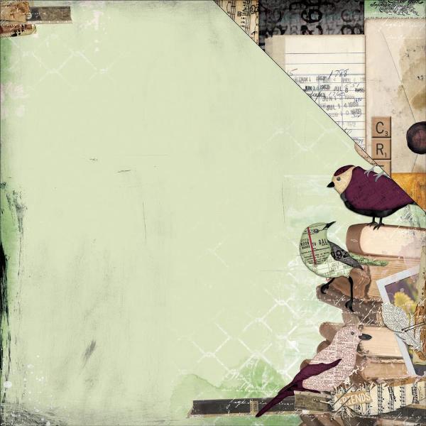 Papel Beautiful Dreamer / Illusion - Bo Bunny  - JuJu Scrapbook