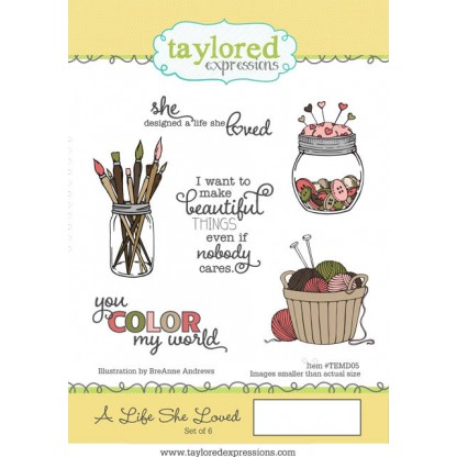 Carimbo - A Life She Loved - Taylored Expressions  - JuJu Scrapbook