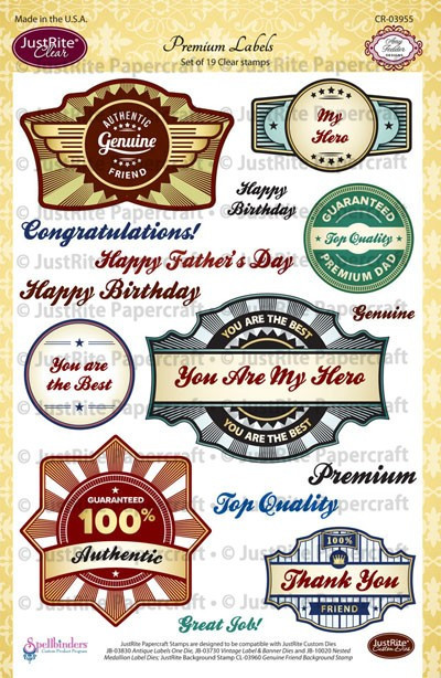 Carimbo -  Premium Labels - Just Rite  - JuJu Scrapbook