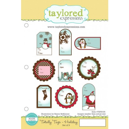 Carimbo - Totally Tags / Holiday - Taylored Expressions  - JuJu Scrapbook