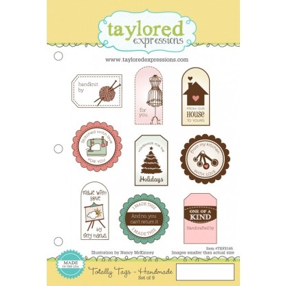 Carimbo - Totally Tags / Handmade - Taylored Expressions  - JuJu Scrapbook