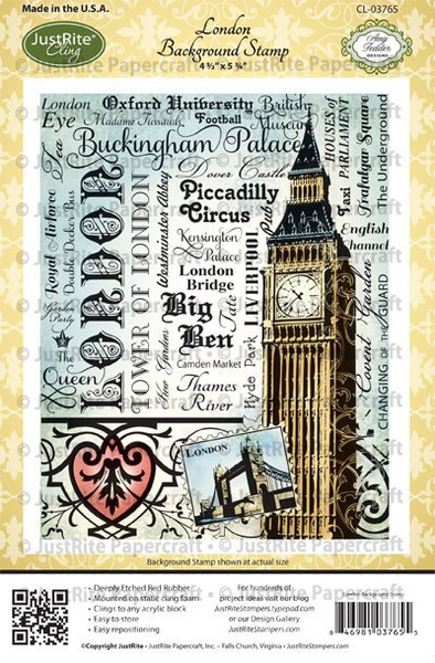 Carimbo - London Background - Just Rite  - JuJu Scrapbook
