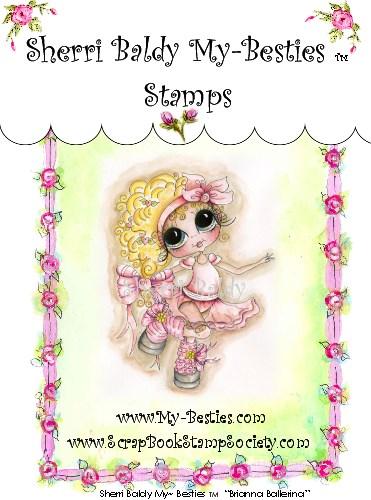 Carimbo - Brianna Ballerina - My Besties  - JuJu Scrapbook