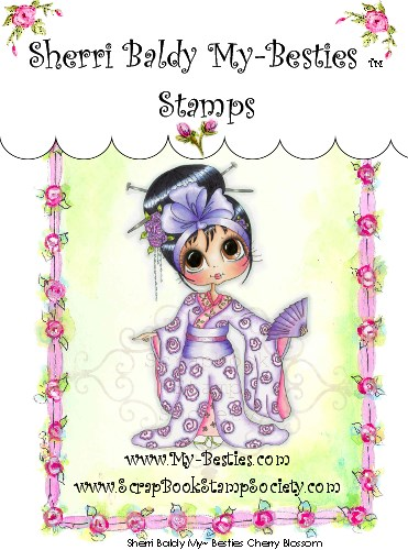 Carimbo - Cherry Blossom - My Besties  - JuJu Scrapbook