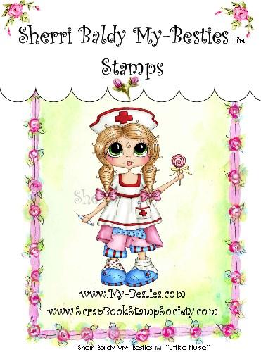Carimbo - Littkle Nurse - My Besties  - JuJu Scrapbook