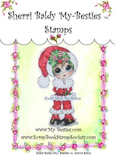 Carimbo - Santa Baby - My Besties  - JuJu Scrapbook