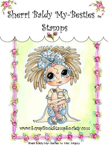 Carimbo - Miss Mopsy - My Besties  - JuJu Scrapbook