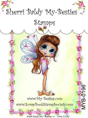Carimbo - Little Cindy - My Besties  - JuJu Scrapbook