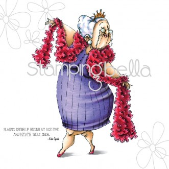 Carimbo - Seniorita Magda - Stamping Bella  - JuJu Scrapbook