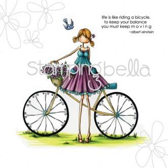 Carimbo - Flora The Cyclist - Stamping Bella  - JuJu Scrapbook