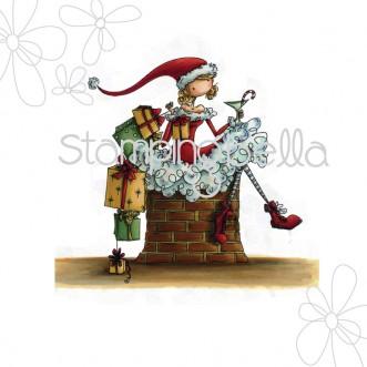 Carimbo - Charlie Waits By The Chimney - Stamping Bella  - JuJu Scrapbook