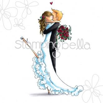 Carimbo - Brett and Brenda Get Married - Stamping Bella  - JuJu Scrapbook