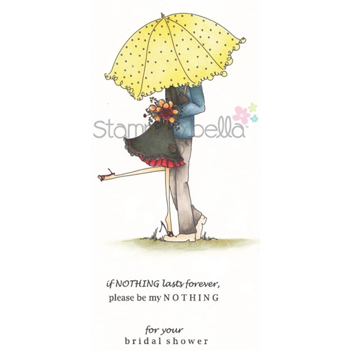 Carimbo - Emily and Ryan Under the Umbrella  - JuJu Scrapbook