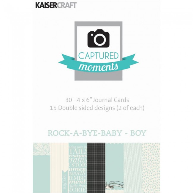 Captured Moments 4x6´ / Rock a Bye Baby Boy - KaiserCraft  - JuJu Scrapbook