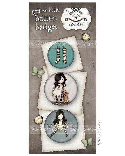 Gorjuss button badges - set 8  - JuJu Scrapbook