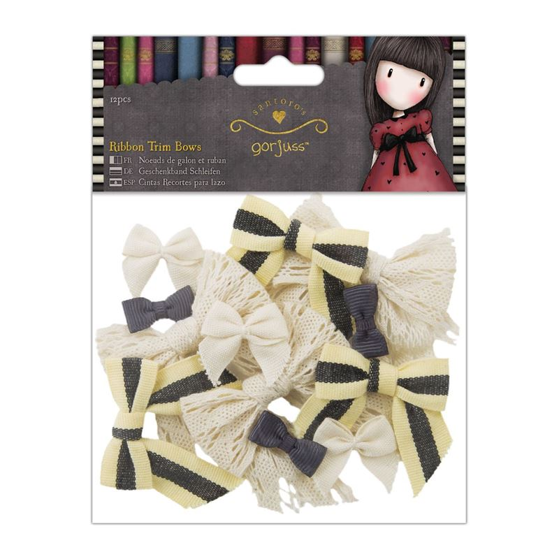 Ribbon Trim Bows 367103 (12pcs) - Gorjuss  - JuJu Scrapbook
