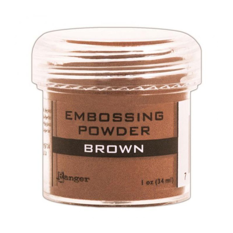 Pó para Emboss Embossing Power - Cor Brown - Ranger  - JuJu Scrapbook
