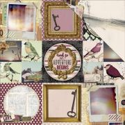 Papel Beautiful Dreamer - Live Life / Bo Bunny