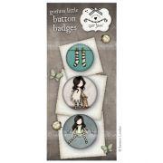 Gorjuss button badges - set 8