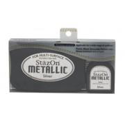 Carimbeira StazOn Metallic - Cor Silver